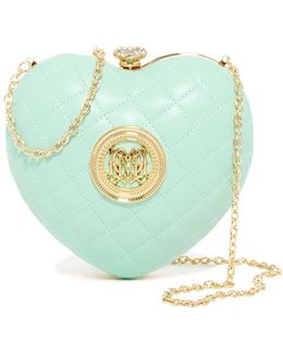 Quilted Heart Convertible Clutch