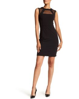 Sleeveless Mesh Top Dress