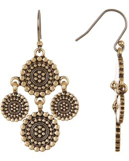 Medallion Chandelier Earrings