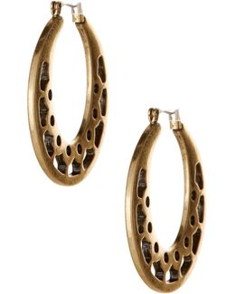 Open Work Hoop Earrings