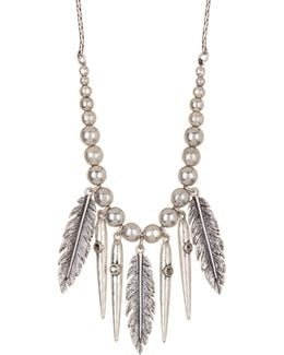 Feather Fringe Necklace