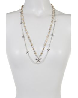 Double Row Starfish Station & Beaded Necklace