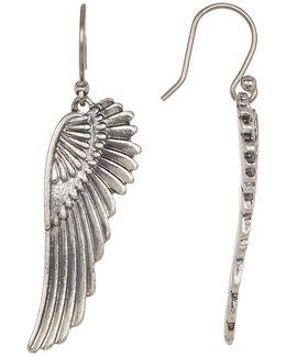 Silver-tone Feather Earrings