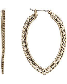 Gold Openwork Hoop Earrings