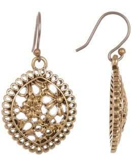 Openwork Lace Drop Earrings