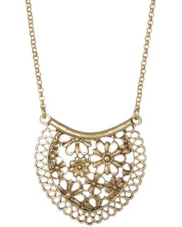 Lace Pendant Necklace
