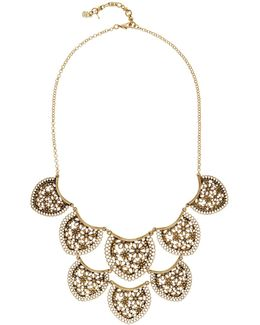 Tiered Floral Collar Necklace
