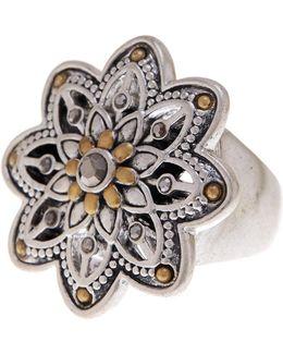 Openwork Flower Ring - Size 7