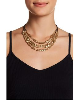 Multi-strand Beaded Collar Necklace