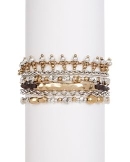 Lucky Layer Beaded Metal Bracelet