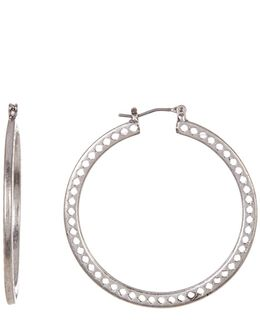 Openwork Hoop Earrings