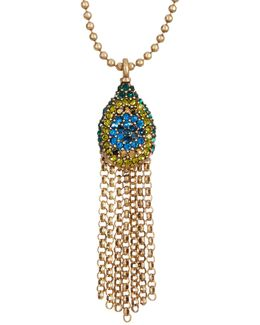 Pave Peacock Pendant Necklace