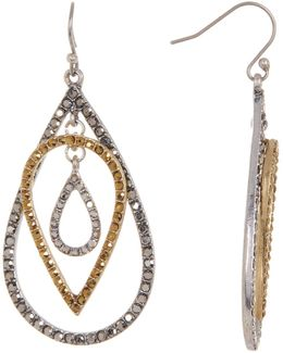 Multi Pave Teardrop Earrings