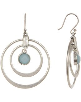 Seafoam Double Hoop Dangle Earrings