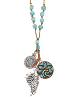 Mosaic Charm Long Necklace