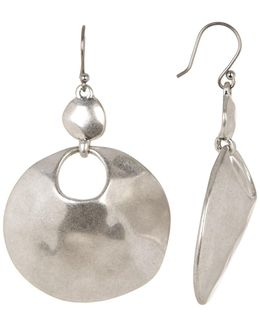 Organic Circle Drop Earrings