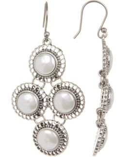 Small Pearl Chandelier Earrings