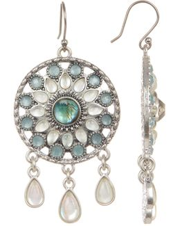 Seafoam Medallion Drop Earrings