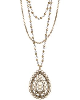 Layered Openwork Pendant Necklace