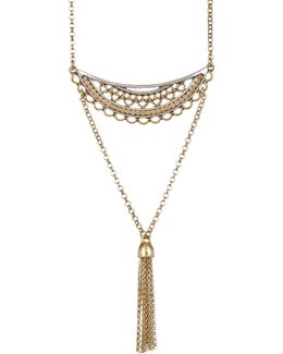 Openwork Tassel Pendant Necklace