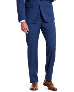 "Mabry Navy Woven Flat Front Wool Suit Separates Trouser - 30-34"" Inseam"