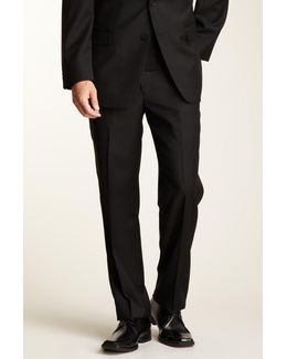 Slim Fit Solid Black Pant