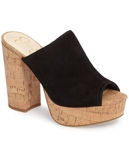 Giavanna Open Toe Platform Slide