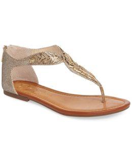 Kalie Embellished Feather Sandal