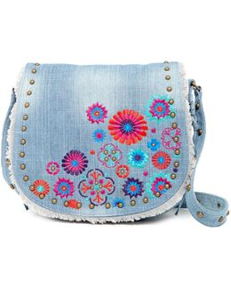 Blume Embroidered Messenger Bag