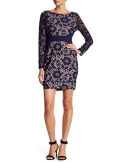 Lace Knit Long Sleeve Dress
