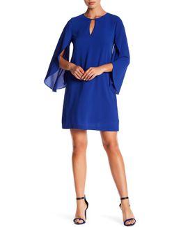 Keyhole Flutter Sleeve Dress