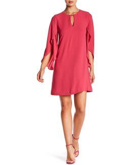 Cape Sleeve Shift Dress
