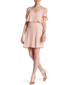 Cold Shoulder Crisscross Dress