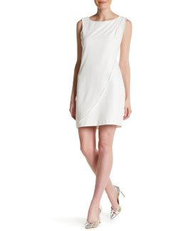 Sleeveless Studded Wrap Dress