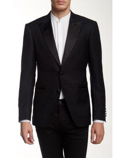 Formal Jake Silk-wool Blend Two Button Peak Lapel Jacket