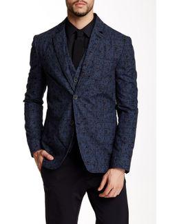 Printed Notch Collar Jacket