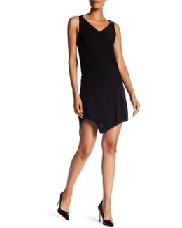 Cowl Neck Asymmetrical Jersey Dress