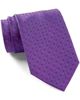 Silk Ribbed Duo Dot Tie