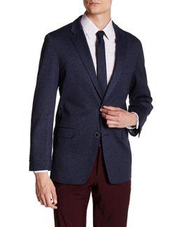 Gene Blue Two Button Notch Lapel Suit Separates Jacket