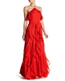 Ruffle Popover & Drapery Dress
