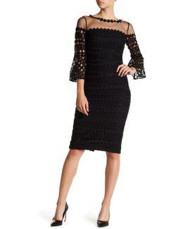Crochet Lace Bell Sleeve Dress