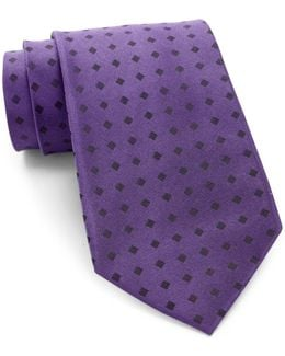 Mirror Square Silk Tie