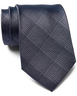 Subtle Plaid Silk Tie