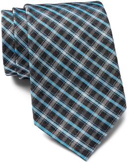 Onyx Grid Woven Tie