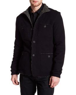 Faux Fleece Lined Patch Pocket Jacket