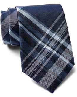 University Plaid Tie