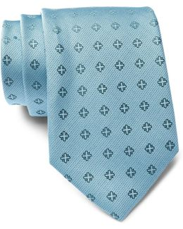 Cross Medallion Silk Tie