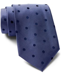 Satin Sheen Mini Dot Silk Tie