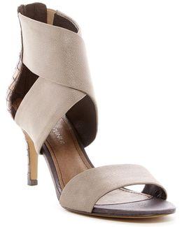 Kaye Lizard-embossed Heeled Sandal