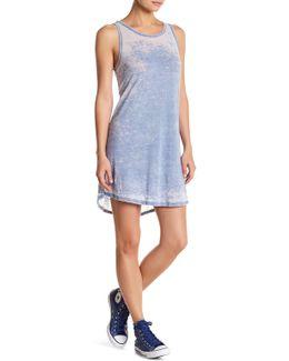 Layered Hi-lo Burnout Tank Dress